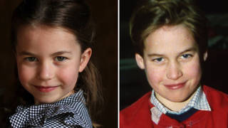 Princess Charlotte, 5, is the spitting image of her father Prince William
