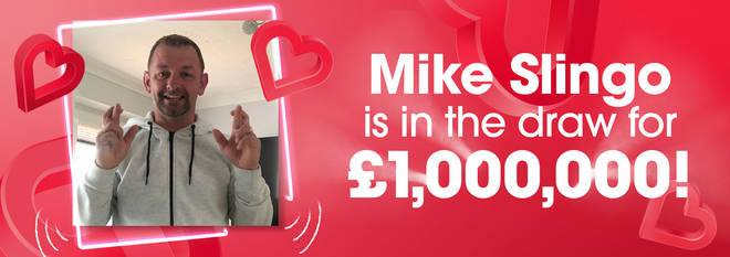 Mike Slingo could win a million pounds this Thursday!