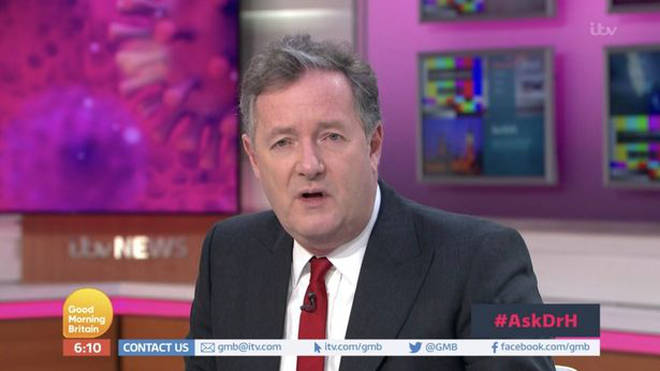 Piers isn't presenting GMB at the moment