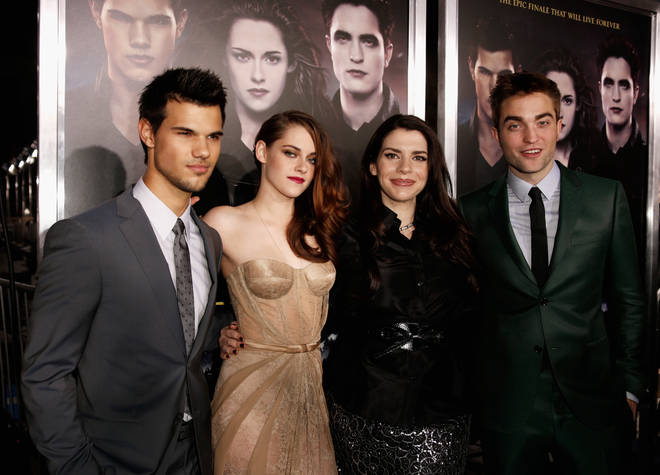 Stephanie Meyer and the stars of Twilight