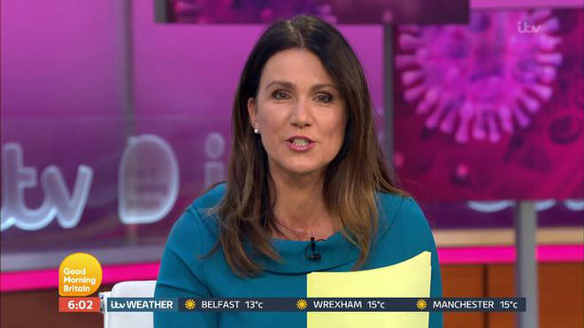 Susanna Reid gave an update on Piers Morgan