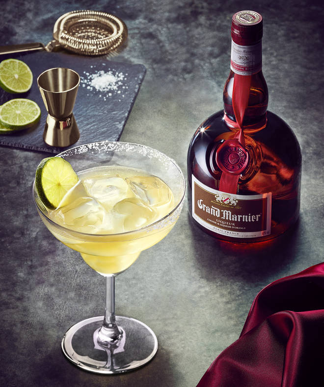 The Margarita traditionally uses Grand Marnier