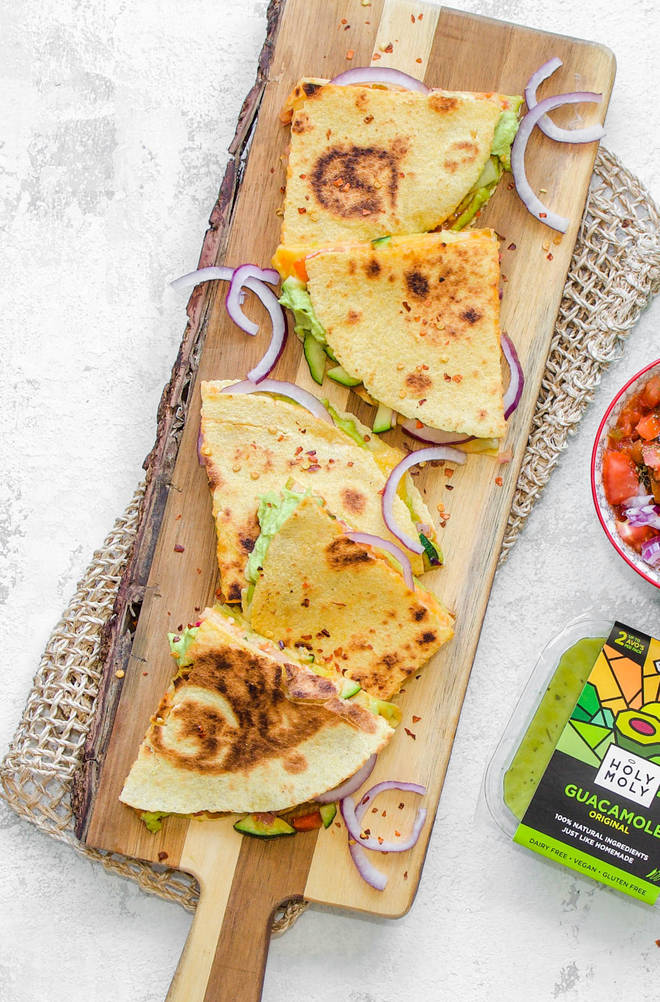 Nothing goes better with a margarita than some gooey quesadillas