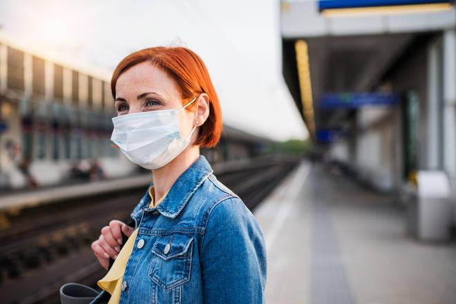 Face masks have been advised on public transport