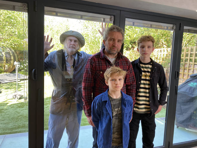 Eddie Marsan, his sons Blu and Bodhi, and David Threlfall star in Karen
