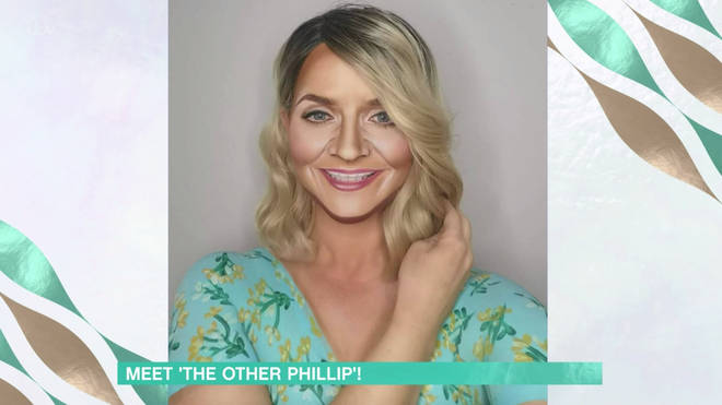 Alana transformed into Holly Willoughby