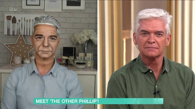 Alana tranformed into Phillip Schofield on This Morning
