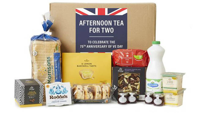 Morrisons are selling an an afternoon tea box for VE Day