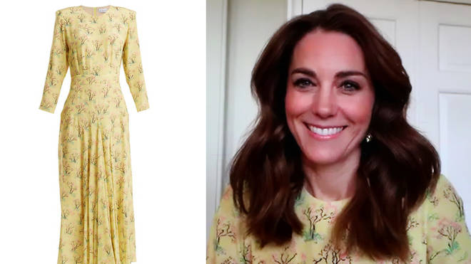 Kate Middleton looked beautiful in a silk yellow dress