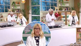 Holly Willoughby was told off by Phillip Schofield after she broke social distancing