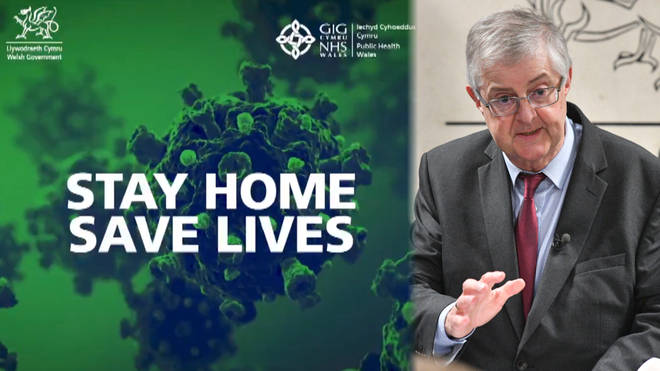 """Mark Drakeford underlines """"stay at home"""" message"""