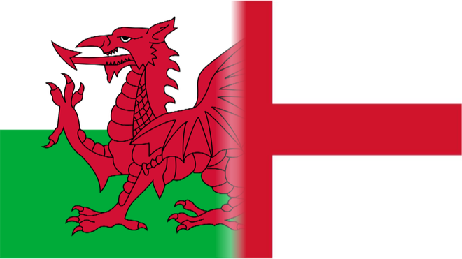 Wales and England Flags