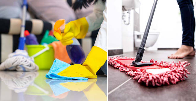 Can domestic cleaners work during lockdown? (stock images)