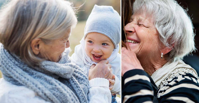 The government has urged grandparents not to look after their grandkids during lockdown (stock images)
