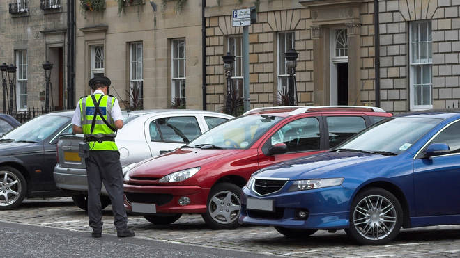 Traffic wardens are still working as normal in many places across the UK