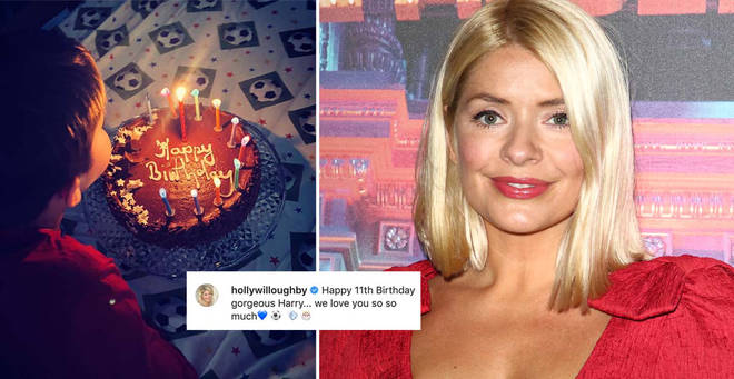 Holly and Dan's son Harry has celebrated his birthday in lockdown