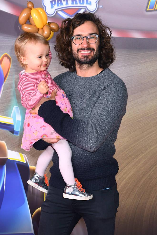 Joe Wicks with his daughter Indie