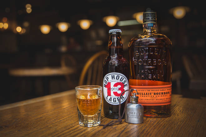 The Bulleit Boilermaker uses bourbon and craft beer