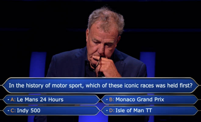 Who Wants To Be A Millionaire? is hosted by Jeremy Clarkson
