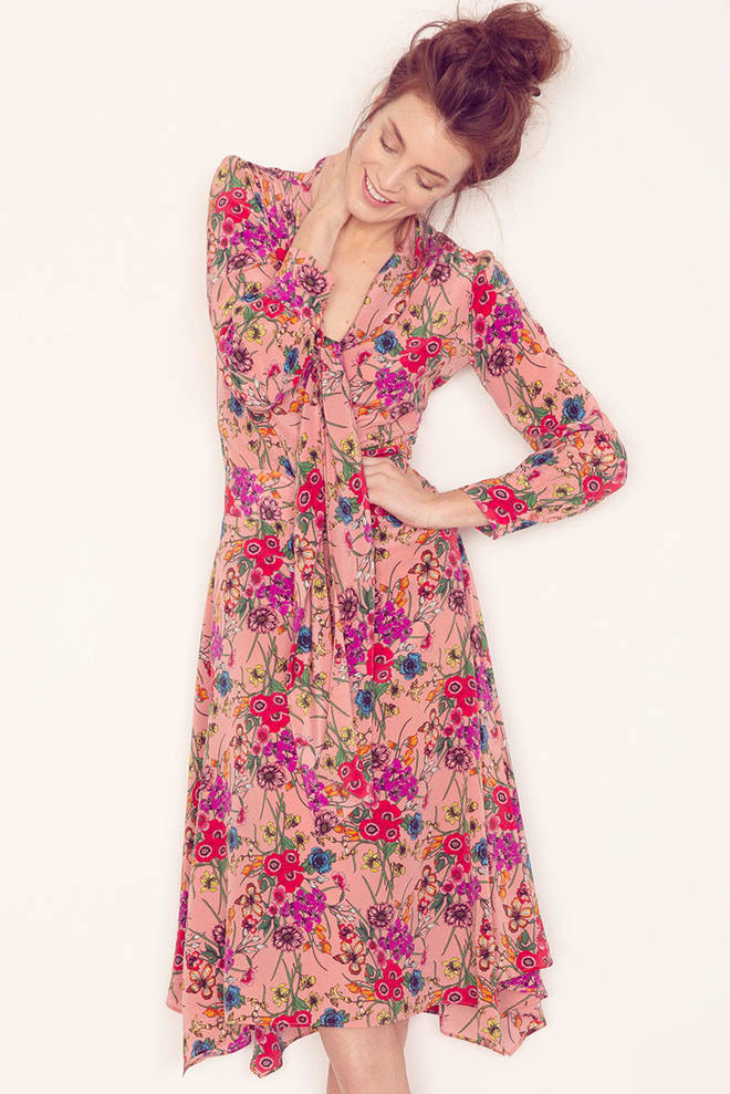 This pink floral co-ord is from Tabitha Webb