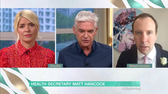 Matt Hancock spoke out on face mask advice on This Morning