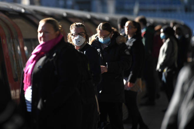 The public have been told to wear face masks where social distancing is not possible