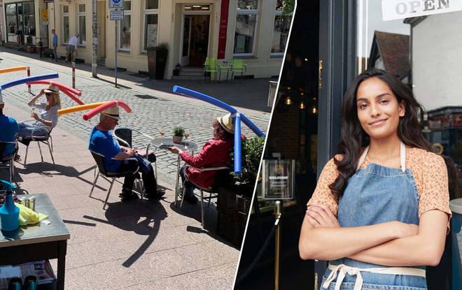 The German cafe has had a bit of fun on social media