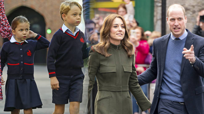 George and Charlotte have been singing during lockdown and learning a new song, Kate Middleton revealed