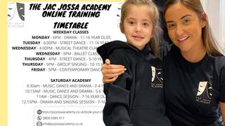 Jacqueline's academy has advertised the new online classes