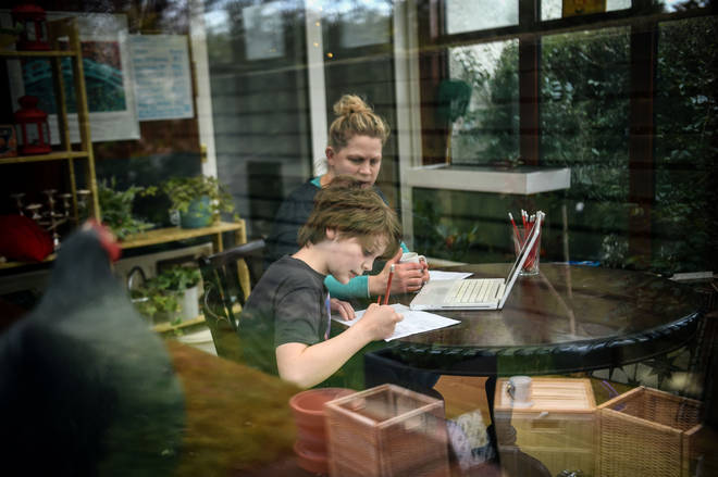 Many students have been homeschooled during the lockdown period (stock image)