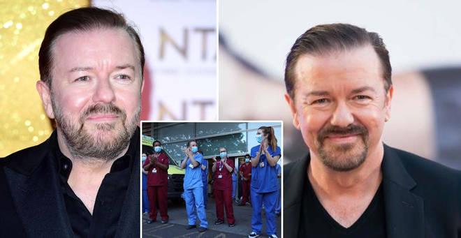 Ricky Gervais has praised NHS workers