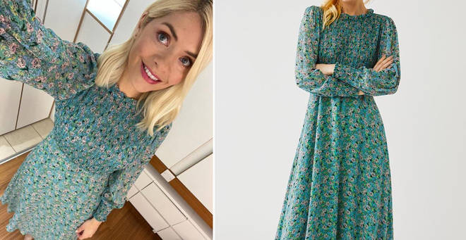 Holly Willoughby's green dress is from Ghost