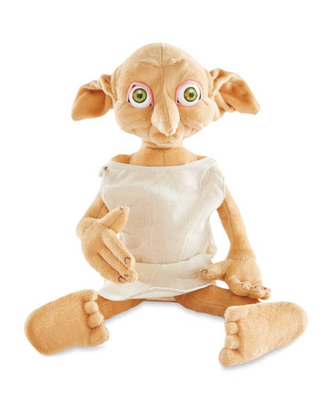 A Dobby stuffed toy is available from Aldi