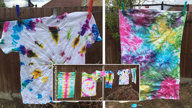 How to tie-dye a T-shirt, and technique ideas