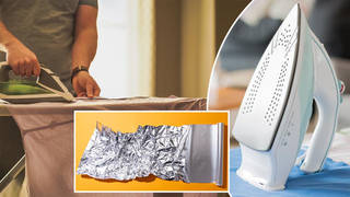 Simple trick makes it easier to iron clothes using tin foil