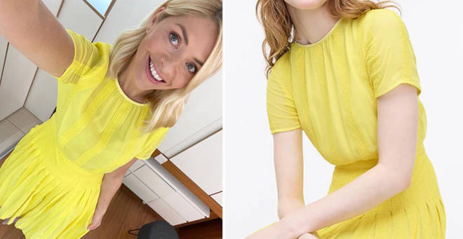 Holly Willoughby's yellow dress is from J Crew
