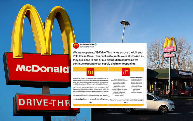 McDonalds made the announcement this morning