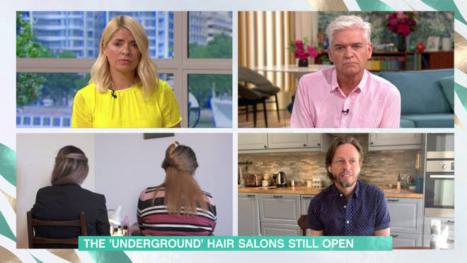 The hairdresser and her client kept their identities private for the interview