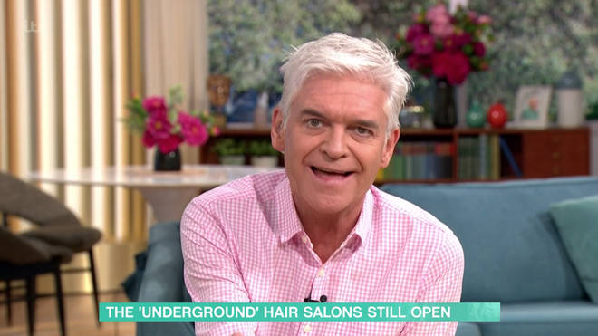 Phillip Schofield asked the hairdresser whether she was being irresponsible for breaking lockdown measures