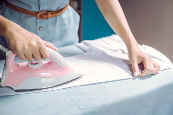 Putting foil under your ironing cover with speed up the work
