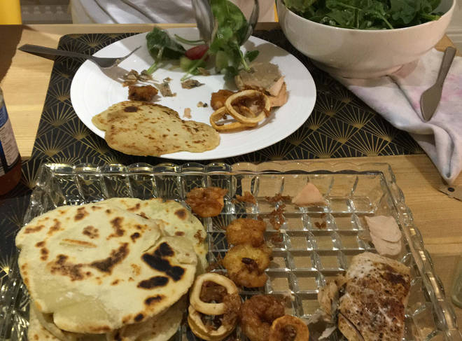 The flatbreads were great served with fish and salad