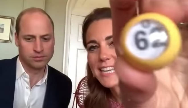 The royal couple got involved running a bingo event for the care home residents