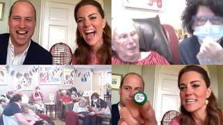 Kate Middleton and Prince William in giggles over pensioner's cheeky remark as they play bingo