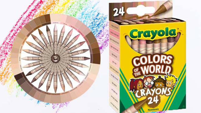 Crayola have announced their new product, Colours of the World