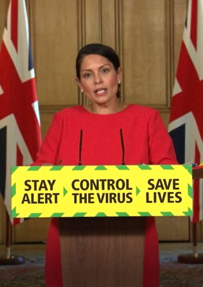 Priti Patel announced the new measures in today's press conference