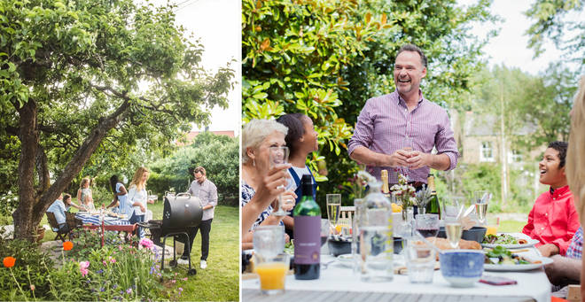 Garden parties could soon be allowed under new guidelines (stock images)