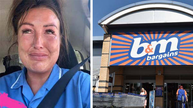 The care home worker claimed the woman followed her for ten minutes in the B&M store