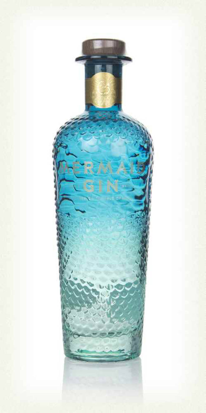 The gin comes in a beautiful blue bottle