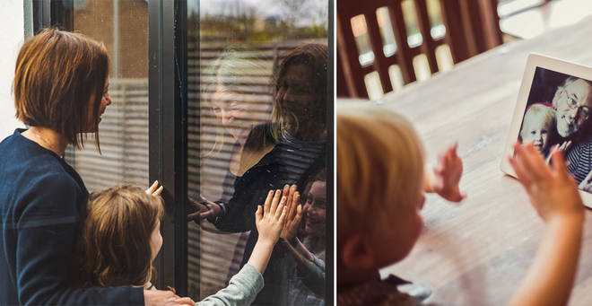 The rules on seeing people not in your household during lockdown (stock images)