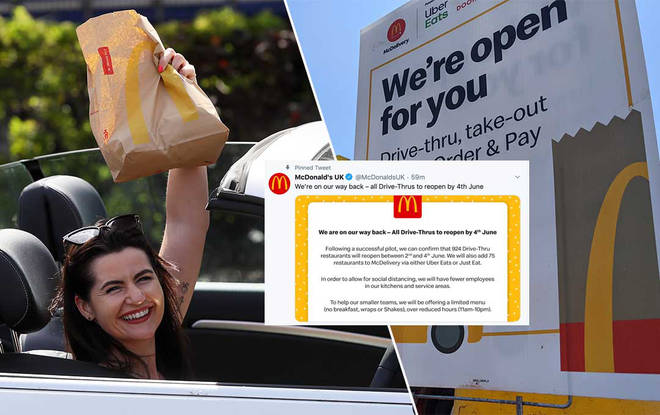 McDonalds are preparing to re-open all their drive-thrus